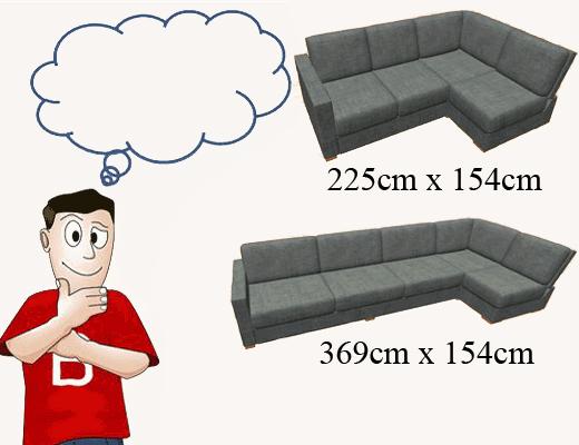 Large sofa size