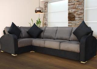 A two-tone sofa