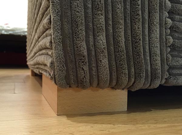 New solid hardwood feet