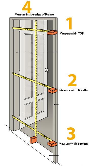 measuring a door for sofa