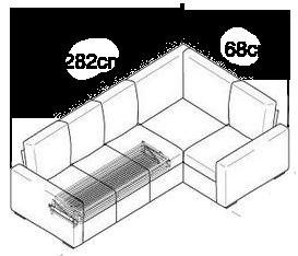 Isometric sofa dimensions