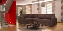 L Shape Sofa in Hudson Chocolate