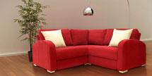 Small Corner Sofa in Dundee Wine