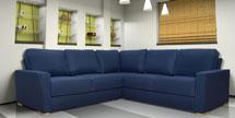 Corner Sofa in Hudson Blue