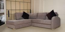 Chaise Corner Sofa in Max Mink