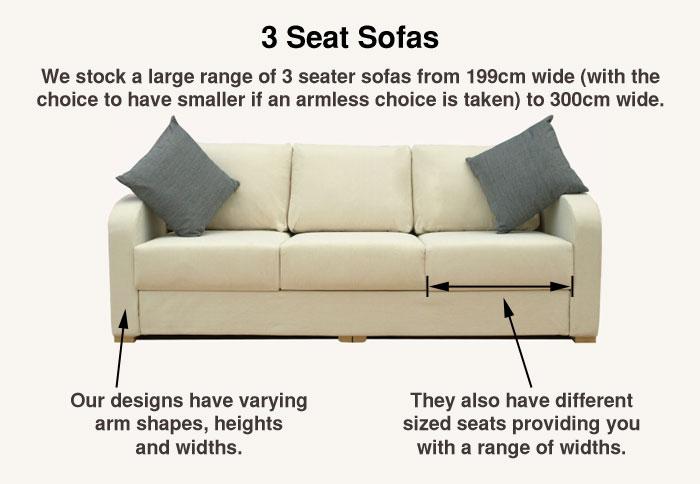 More about Nabru 3 Seat Sofas'