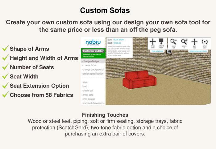 More about Nabru custom sofas.'