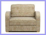 Beige Armchair Sofa Bed