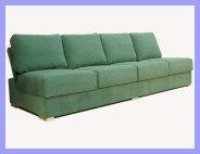 Armless 4 Seat Sofa