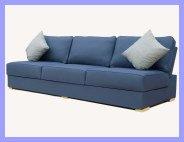 Armless Blue Sofas