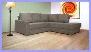 Beige Corner Chaise Sofa
