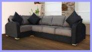 Suede Corner Sofa