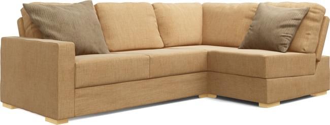 Alda Armless 3X2 Double Sofa Bed