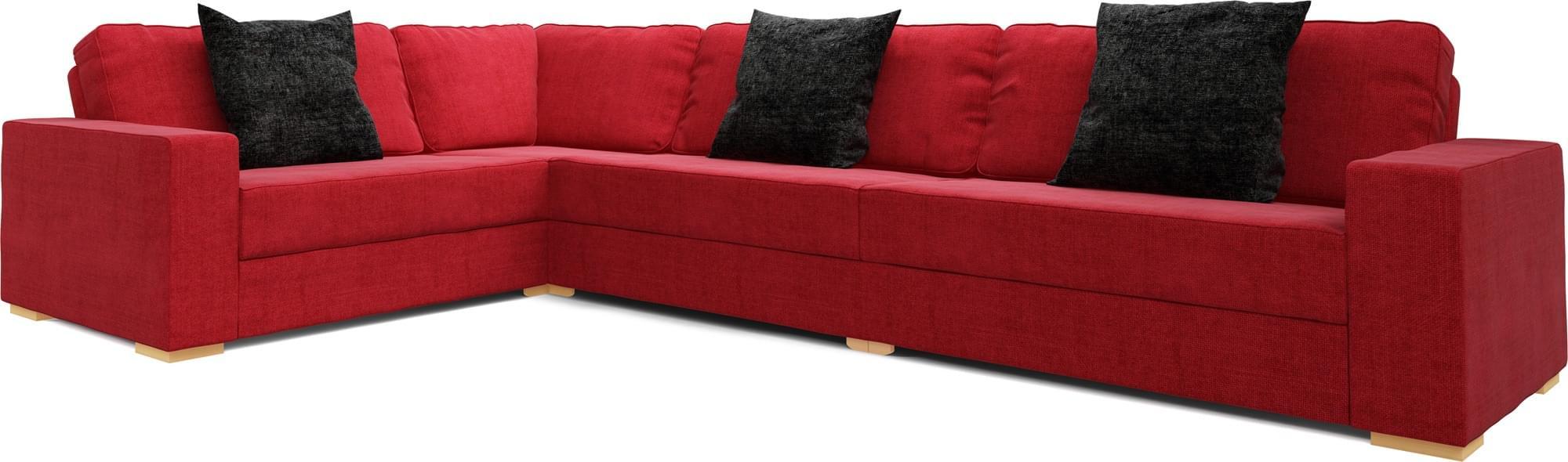 Xia 3x2 Sofa Bed Self Assembly Corner Sofa Bed Nabru