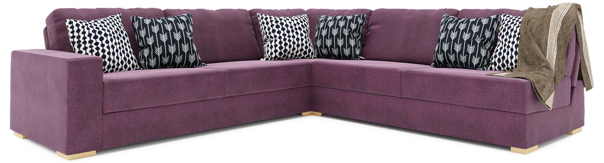 Ula Armless 3X3 Double Sofa Bed