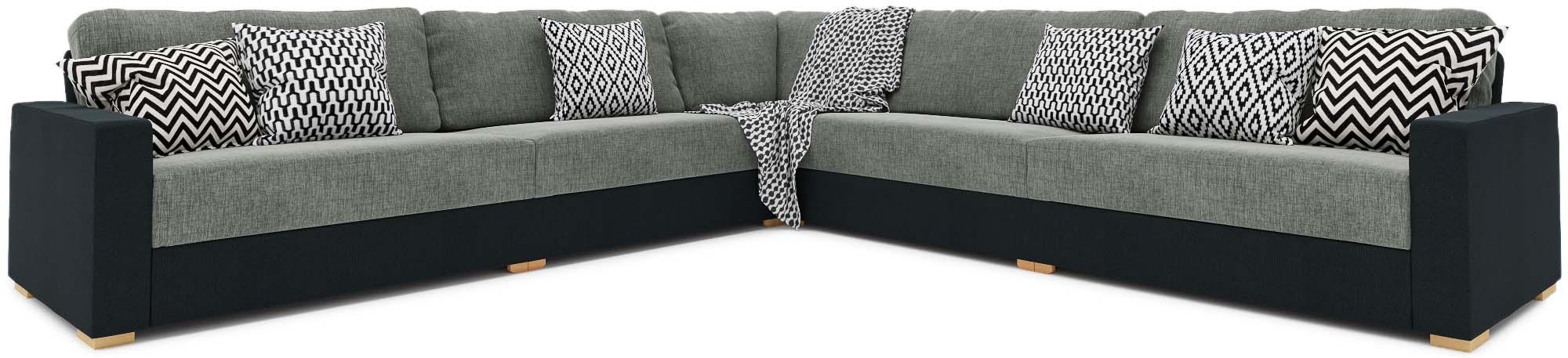 xan 3x3 corner sofa large fabric corner sofa nabru. Black Bedroom Furniture Sets. Home Design Ideas
