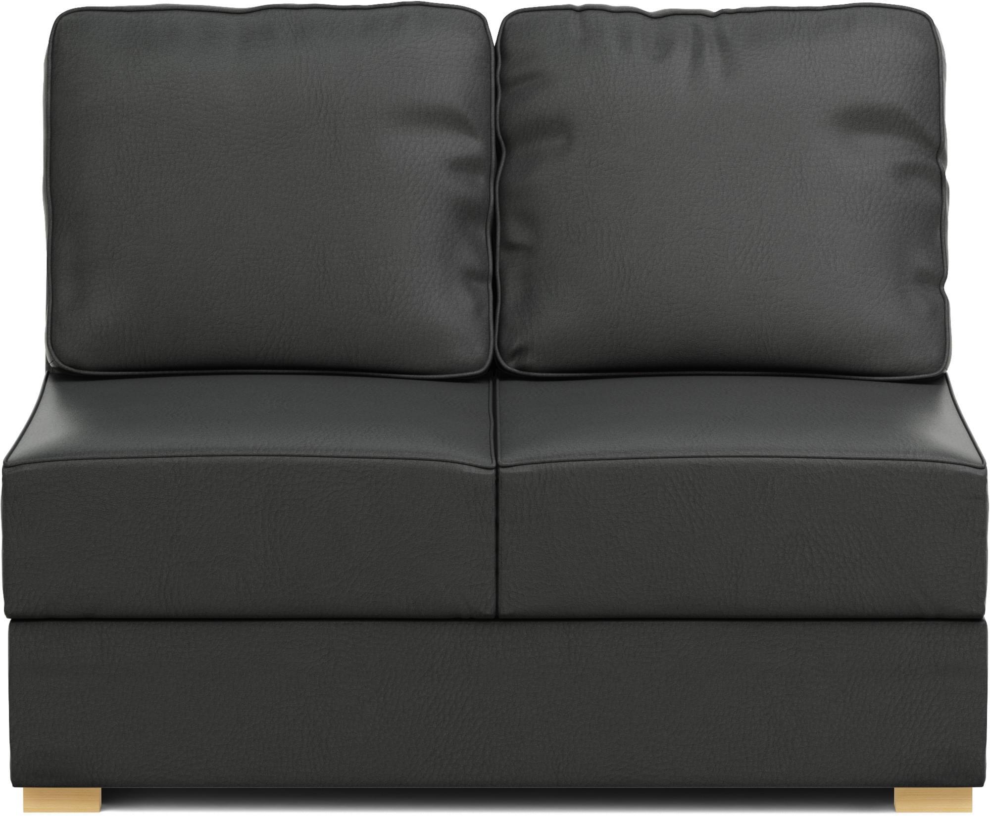 Lear small 2 seat armless space saving sofa nabru for Sofa 120 cm lang