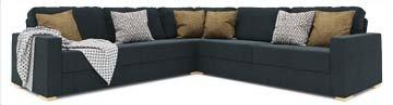 Ula 3X3 Corner Double Sofa Bed